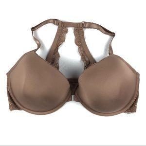 TORRID brown bra 42DDD underwire lace back  i104